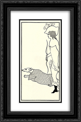Atalanta in Calydon with the Hound 16x24 Black or Gold Ornate Framed and Double Matted Art Print by Aubrey Beardsley
