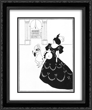 Ballet of Marionettes I 20x24 Black or Gold Ornate Framed and Double Matted Art Print by Aubrey Beardsley