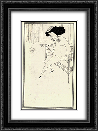 Caricature of James McNeill Whistler 18x24 Black or Gold Ornate Framed and Double Matted Art Print by Aubrey Beardsley