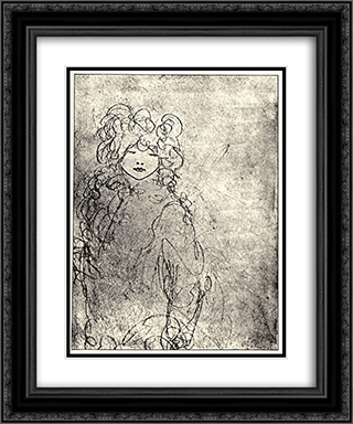 Child 20x24 Black or Gold Ornate Framed and Double Matted Art Print by Aubrey Beardsley