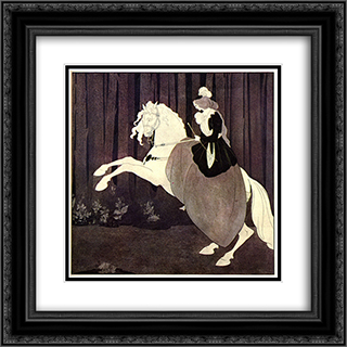 Chopin 20x20 Black or Gold Ornate Framed and Double Matted Art Print by Aubrey Beardsley