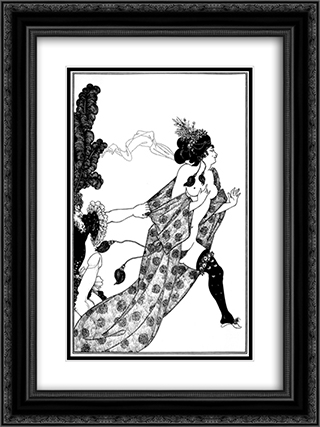 Cinesias Entreating Myrrhina to Coition 18x24 Black or Gold Ornate Framed and Double Matted Art Print by Aubrey Beardsley