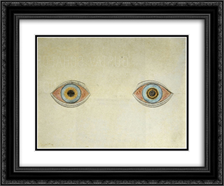My Eyes in the Time of Apparition 24x20 Black or Gold Ornate Framed and Double Matted Art Print by August Natterer