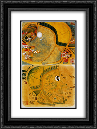 Witch's head 18x24 Black or Gold Ornate Framed and Double Matted Art Print by August Natterer