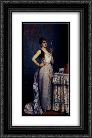 Preparing For The Ball 16x24 Black or Gold Ornate Framed and Double Matted Art Print by Auguste Toulmouche