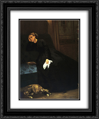 The Lost Love 20x24 Black or Gold Ornate Framed and Double Matted Art Print by Auguste Toulmouche