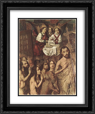 Christ Leading the Patriarchs to the Paradise (detail) 20x24 Black or Gold Ornate Framed and Double Matted Art Print by Bartolome Bermejo