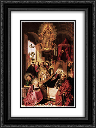 Death of the Virgin 18x24 Black or Gold Ornate Framed and Double Matted Art Print by Bartolome Bermejo