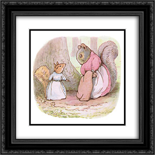 Goody and Mrs. Hackee 20x20 Black or Gold Ornate Framed and Double Matted Art Print by Beatrix Potter