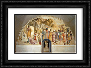 Adoration of the Magi 24x18 Black or Gold Ornate Framed and Double Matted Art Print by Benozzo Gozzoli