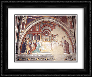 Blessing of the Faithful at Hippo 24x20 Black or Gold Ornate Framed and Double Matted Art Print by Benozzo Gozzoli