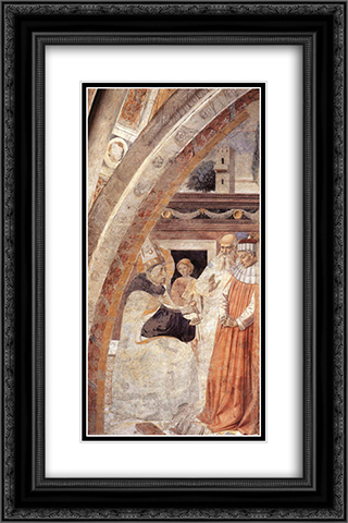 Conversion of the Heretic 16x24 Black or Gold Ornate Framed and Double Matted Art Print by Benozzo Gozzoli