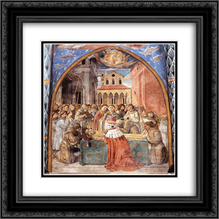 Death and Ascention of St. Francis 20x20 Black or Gold Ornate Framed and Double Matted Art Print by Benozzo Gozzoli