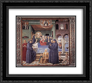 Death of St. Monica 22x20 Black or Gold Ornate Framed and Double Matted Art Print by Benozzo Gozzoli