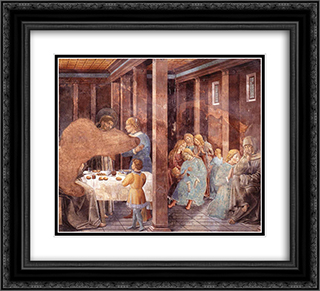 Death of the Knight of Celano 22x20 Black or Gold Ornate Framed and Double Matted Art Print by Benozzo Gozzoli