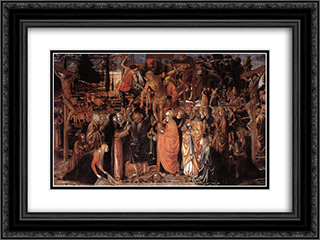 Descent from the Cross 24x18 Black or Gold Ornate Framed and Double Matted Art Print by Benozzo Gozzoli