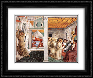 Dream of Innocent III and the Confirmation of the Rule 24x20 Black or Gold Ornate Framed and Double Matted Art Print by Benozzo Gozzoli