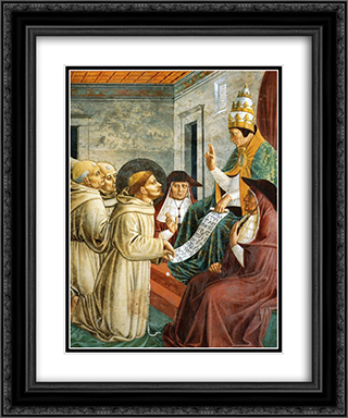 Dream of Innocent III and the Confirmation of the Rule (detail) 20x24 Black or Gold Ornate Framed and Double Matted Art Print by Benozzo Gozzoli