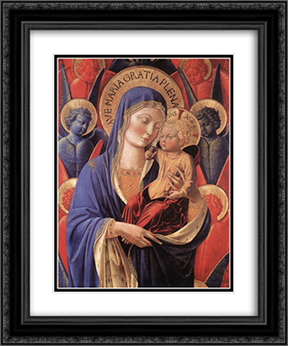Madonna and Child 20x24 Black or Gold Ornate Framed and Double Matted Art Print by Benozzo Gozzoli