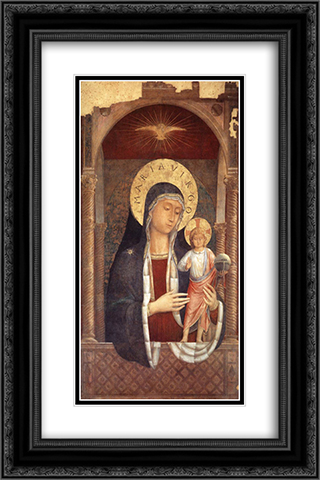 Madonna and Child Giving Blessings 16x24 Black or Gold Ornate Framed and Double Matted Art Print by Benozzo Gozzoli