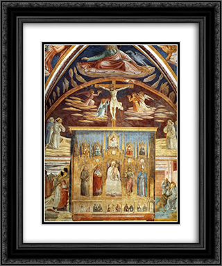 Madonna and Child Surrounded by Saints 20x24 Black or Gold Ornate Framed and Double Matted Art Print by Benozzo Gozzoli