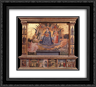 Madonna della Cintola 22x20 Black or Gold Ornate Framed and Double Matted Art Print by Benozzo Gozzoli