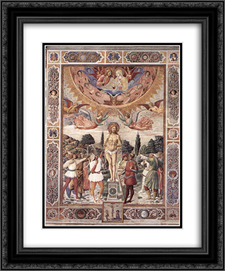 Martyrdom of St. Sebastian 20x24 Black or Gold Ornate Framed and Double Matted Art Print by Benozzo Gozzoli