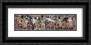 Procession of the Magi 24x12 Black or Gold Ornate Framed and Double Matted Art Print by Benozzo Gozzoli