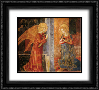San Domenico Annunciation 22x20 Black or Gold Ornate Framed and Double Matted Art Print by Benozzo Gozzoli