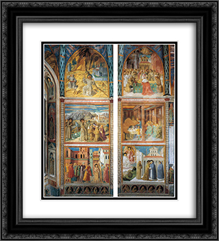 Scenes from the Life of St. Francis (south wall) 20x22 Black or Gold Ornate Framed and Double Matted Art Print by Benozzo Gozzoli