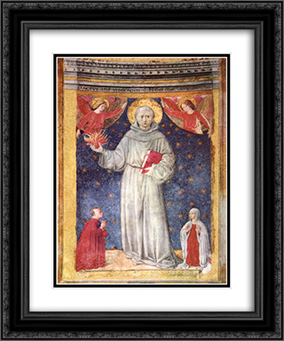 St. Anthony of Padua 20x24 Black or Gold Ornate Framed and Double Matted Art Print by Benozzo Gozzoli