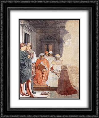 St. Augustine at the University of Carthage 20x24 Black or Gold Ornate Framed and Double Matted Art Print by Benozzo Gozzoli