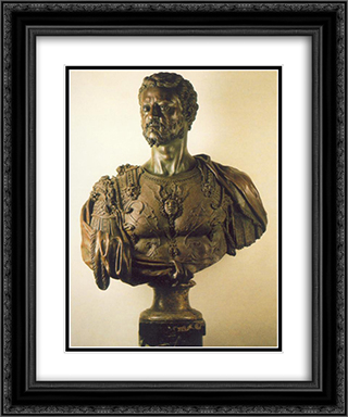 Bust of Cosimo I 20x24 Black or Gold Ornate Framed and Double Matted Art Print by Benvenuto Cellini
