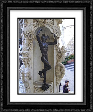 Mercury 20x24 Black or Gold Ornate Framed and Double Matted Art Print by Benvenuto Cellini