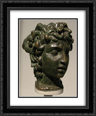 Modellino per la tesa di Medusa 20x24 Black or Gold Ornate Framed and Double Matted Art Print by Benvenuto Cellini