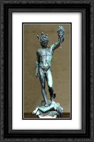 Perseus with the Head of Medusa 16x24 Black or Gold Ornate Framed and Double Matted Art Print by Benvenuto Cellini