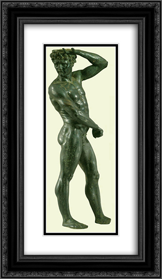 Satyr 14x24 Black or Gold Ornate Framed and Double Matted Art Print by Benvenuto Cellini