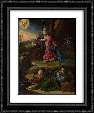 The Agony in the Garden 20x24 Black or Gold Ornate Framed and Double Matted Art Print by Benvenuto Tisi