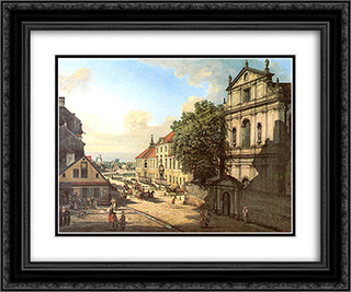 Bridgettine Church and Arsenal 24x20 Black or Gold Ornate Framed and Double Matted Art Print by Bernardo Bellotto