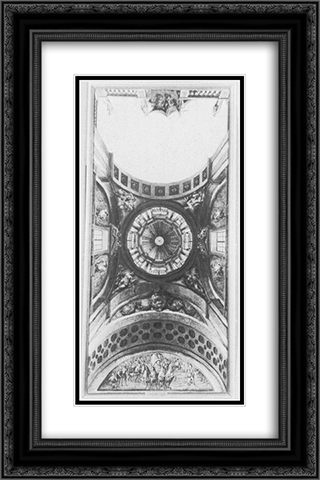 Ceiling decoration design of a hall in the Ujazdow Castle 16x24 Black or Gold Ornate Framed and Double Matted Art Print by Bernardo Bellotto