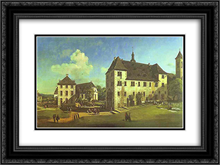 Courtyard of the Castle at Konigstein from the South 24x18 Black or Gold Ornate Framed and Double Matted Art Print by Bernardo Bellotto