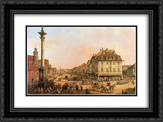 Cracow Suburb seen from the Cracow Gate 24x18 Black or Gold Ornate Framed and Double Matted Art Print by Bernardo Bellotto