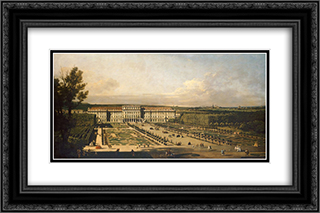 Imperial summer palace of Schonbrunn, garden facade 24x16 Black or Gold Ornate Framed and Double Matted Art Print by Bernardo Bellotto