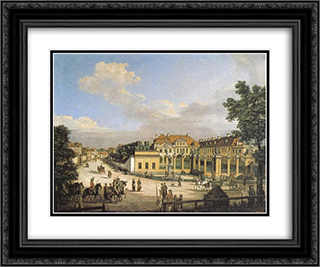 Mniszech Palace in Warsaw 24x20 Black or Gold Ornate Framed and Double Matted Art Print by Bernardo Bellotto