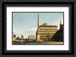 Rome View of the Piazza di San Giovanni in Laterano 24x18 Black or Gold Ornate Framed and Double Matted Art Print by Bernardo Bellotto