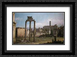 Ruins of the Forum, Rome 24x18 Black or Gold Ornate Framed and Double Matted Art Print by Bernardo Bellotto