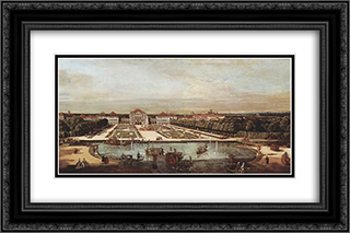 Schloss Nymphenburg 24x16 Black or Gold Ornate Framed and Double Matted Art Print by Bernardo Bellotto