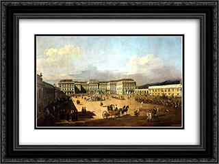 Schloss Schonbrunn 24x18 Black or Gold Ornate Framed and Double Matted Art Print by Bernardo Bellotto