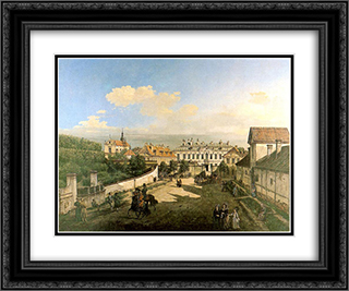 The Blue Palace 24x20 Black or Gold Ornate Framed and Double Matted Art Print by Bernardo Bellotto