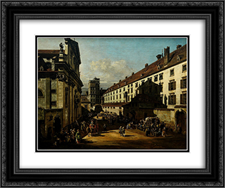 The Dominican Church in Vienna 24x20 Black or Gold Ornate Framed and Double Matted Art Print by Bernardo Bellotto